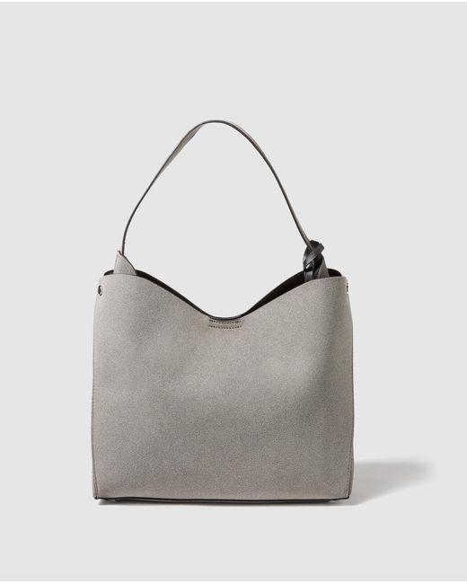 El Corte Inglés - Gray Grey Hobo Bag With Side Pleats - Lyst