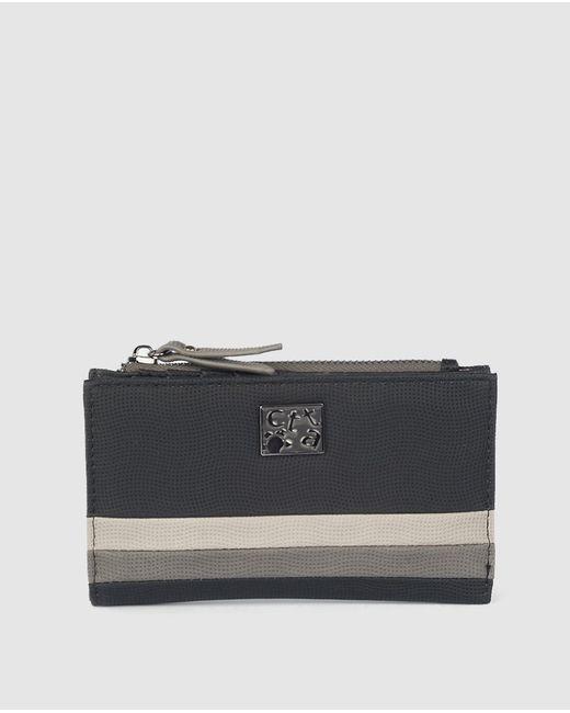 Caminatta Medium Black Wallet With Fastener