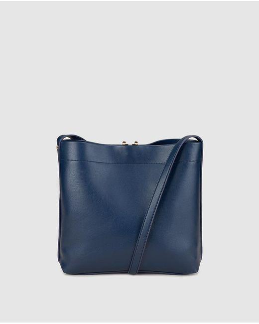 Gloria Ortiz - Elsa Navy Blue Messenger Bag With An Adjustable Strap - Lyst