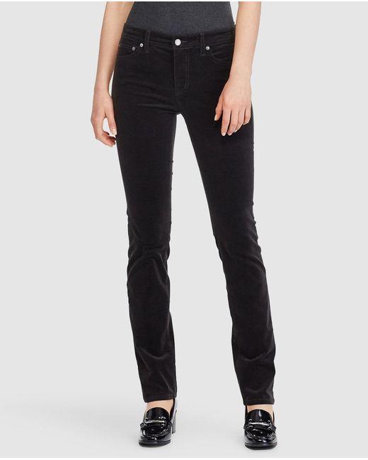 Lauren by Ralph Lauren | Black Straight Trousers | Lyst