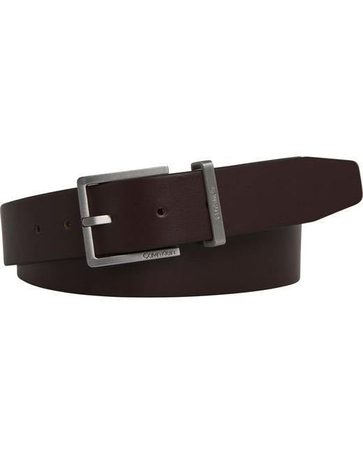 Cinturón De Hombre En Piel Marrón Calvin Klein de hombre de color Brown