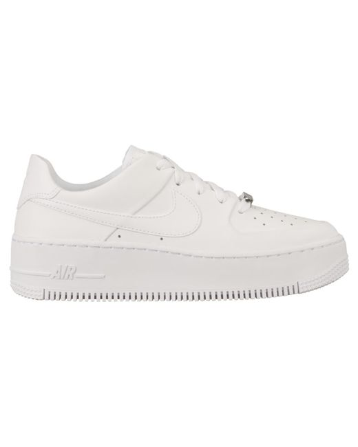 Women's White Air Force 1 Sage Low Casual Sneakers
