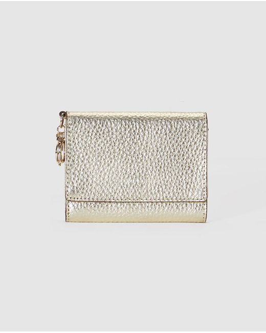 Gloria Ortiz   Metallic Wo Gold-coloured Wallet With Flap Fastening And Pocket On The Outside   Lyst