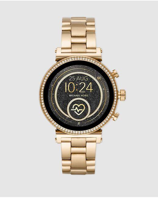 Michael Kors Metallic Sofie Mkt5062 4th Generation Golden Steel Smartwatch