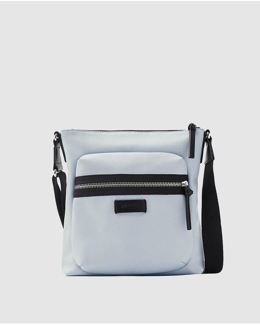 Esprit - Wo Blue Crossbody Bag With A Front Pocket - Lyst