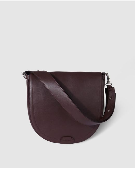 Gloria Ortiz - Cayetana Purple Leather Shoulder Bag With Magnet - Lyst