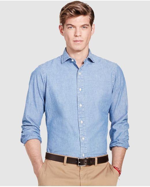 Polo Ralph Lauren | Plain Blue Shirt for Men | Lyst