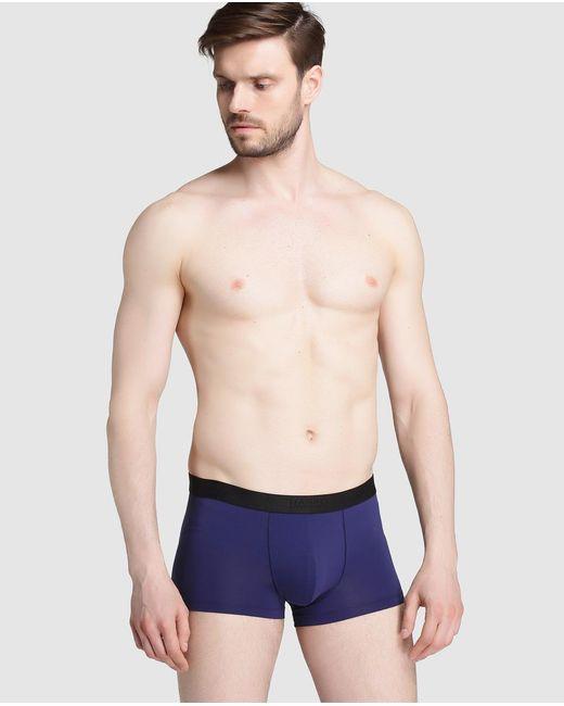 Hanro - Blue Microfibre Knit Boxer Shorts for Men - Lyst
