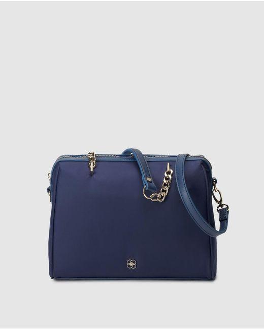 Gloria Ortiz Natasha Navy Blue Bowling Bag With A Long Detachable Strap