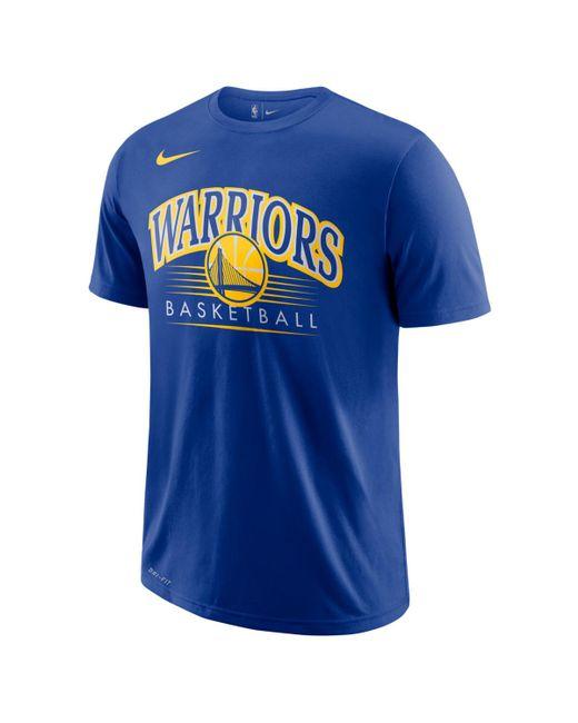 check out 327da cc355 Men's Blue Golden State Warriors 2018-2019 Dry Crest T-shirt