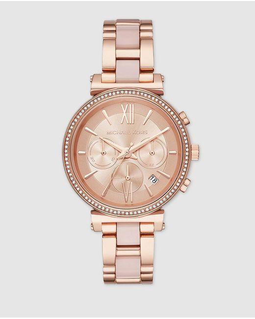 Michael Kors Mk6560 Pink Steel Watch