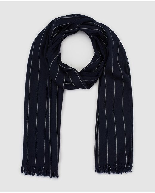 Gant - Striped Navy Blue Wool Scarf for Men - Lyst