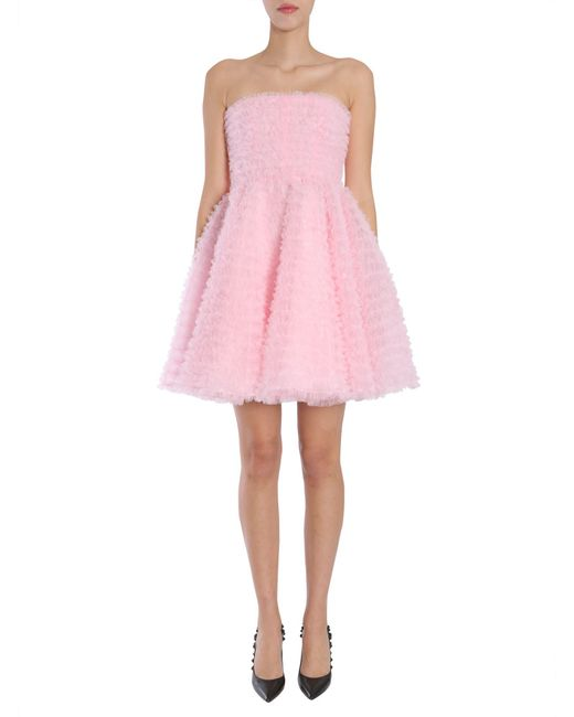 DSquared² - Pink Abito In Tulle Con Ruches - Lyst