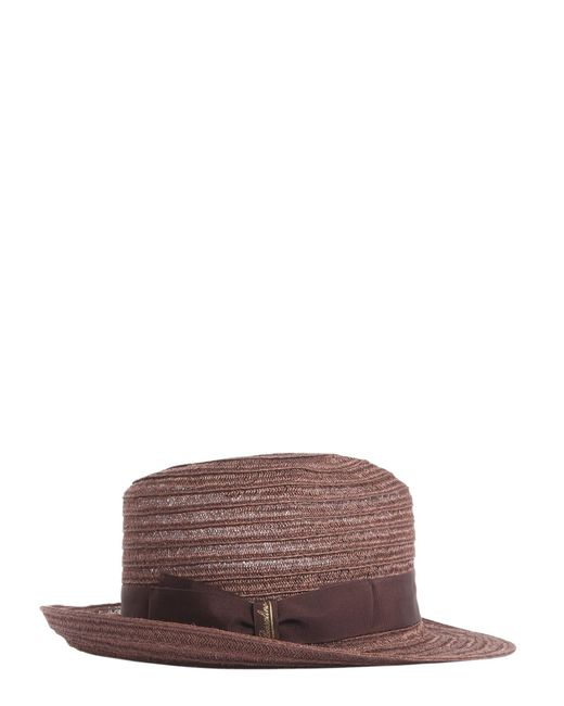 Borsalino - Brown Medium Brim Braided Hemp Hat for Men - Lyst