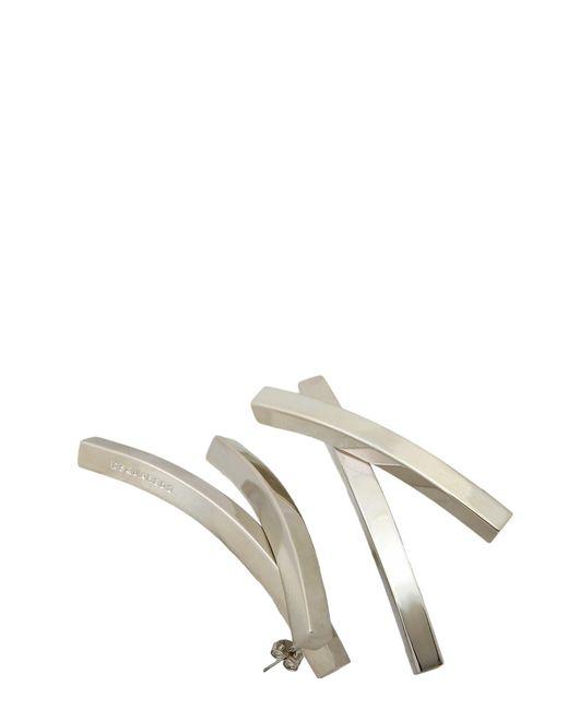 DSquared²   Metallic Aluminium Interlaced Earrings   Lyst