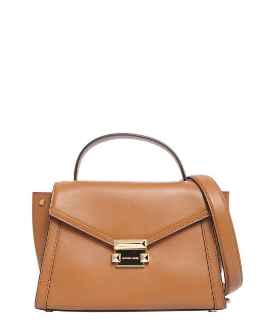 MICHAEL Michael Kors - Brown Medium Whitney Leather Handbag - Lyst