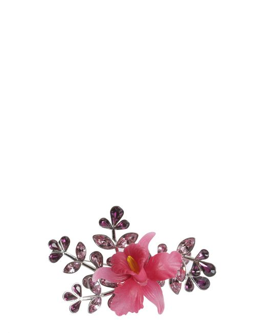 DSquared² - Pink Secret Garden Brooch With Crystals - Lyst