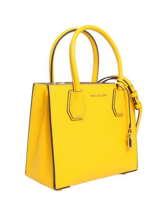 MICHAEL Michael Kors - Yellow Medium Mercer Messenger Leather Bag - Lyst