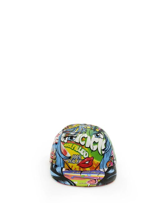 Moschino - Multicolor Crazy Fruits Printed Cotton Snapback Cap for Men - Lyst