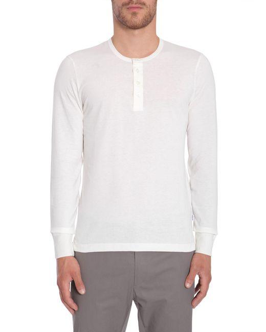 Tom Ford | White Long Sleeve Cotton T-shirt for Men | Lyst