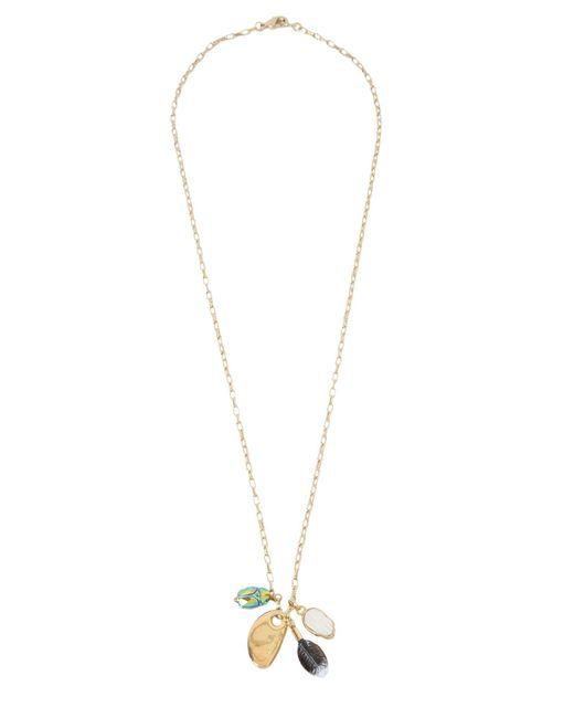 Isabel Marant - Metallic Scarabe Brass Necklace - Lyst