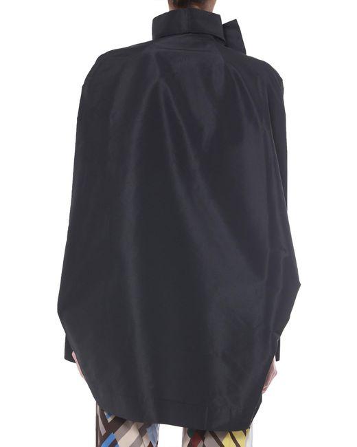 GIACCA SAIL BIKER A COLLO ALTO di Rick Owens in Black