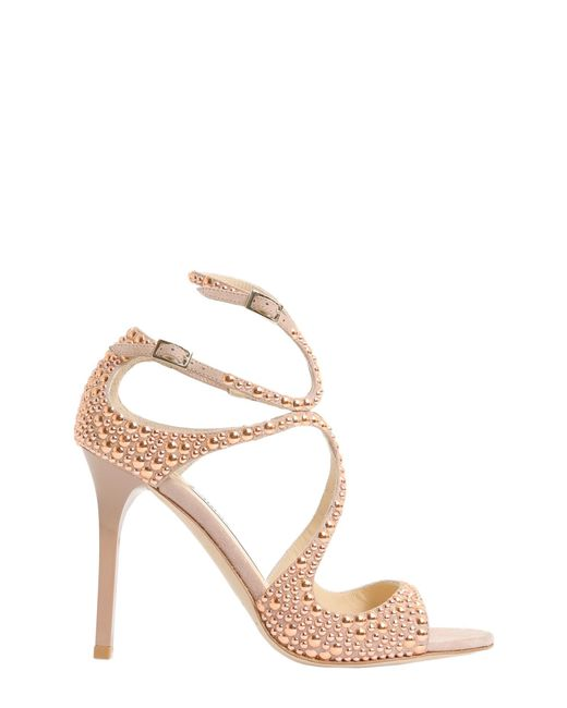 Jimmy Choo - Metallic Lang Leather Sandals - Lyst