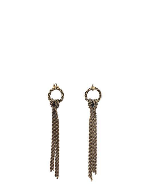 Lanvin | Metallic Long Chain Earrings | Lyst