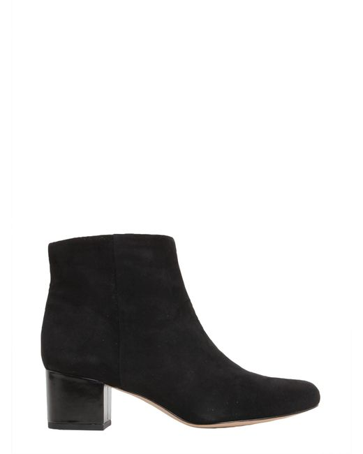 Sam Edelman | Black Edith Leather Boots | Lyst