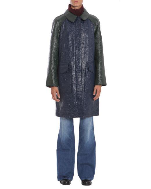 Tory Burch | Blue Mila Coated Cotton Coat | Lyst