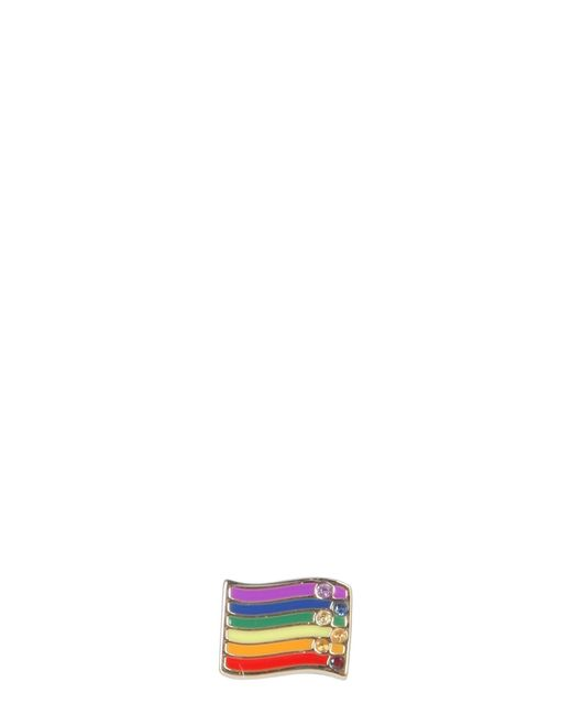 Marc Jacobs Multicolor Rainbow Pin With Crystals