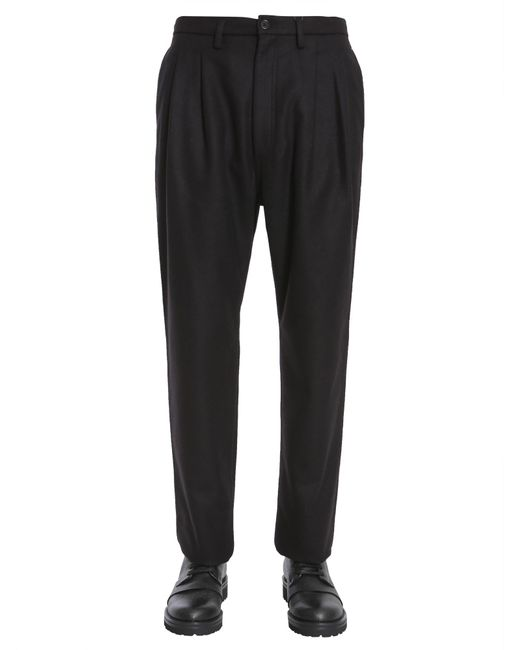 Tommy Hilfiger Black Pantalone In Lana Relaxed Fit for men