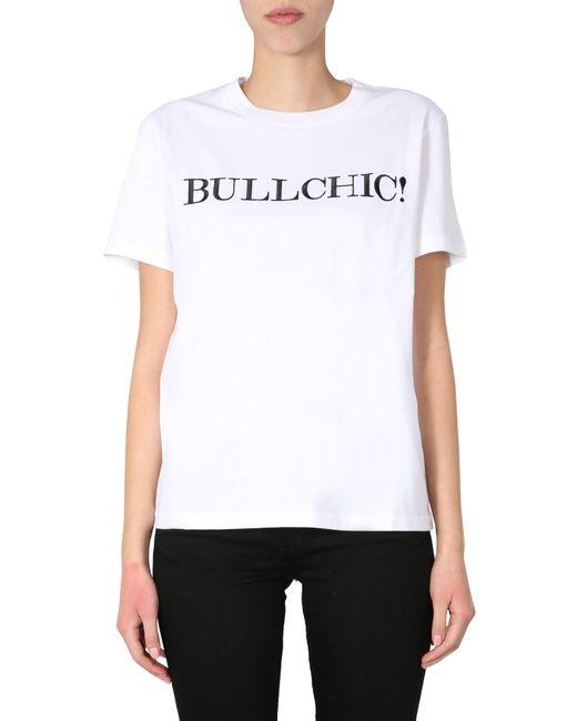 Moschino White Round Neck T-shirt