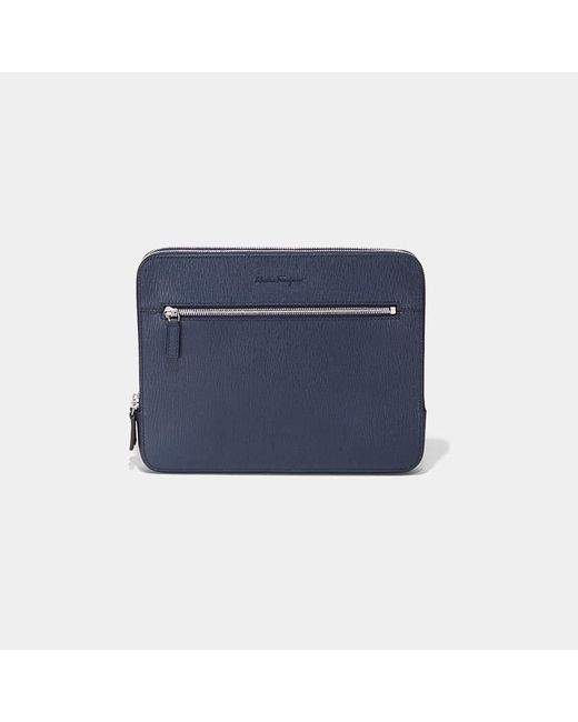 Ferragamo - Blue Revival Zip Portfolio for Men - Lyst