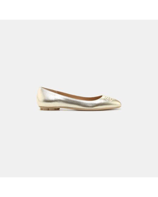 Ferragamo - Multicolor Broni Gancini Patent Leather Ballet Flat - Lyst