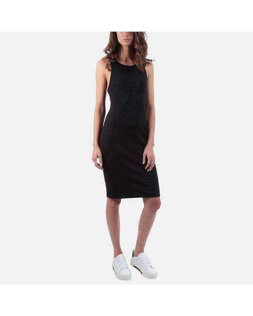 FRAME | Black Variegated Tank Dress | Lyst
