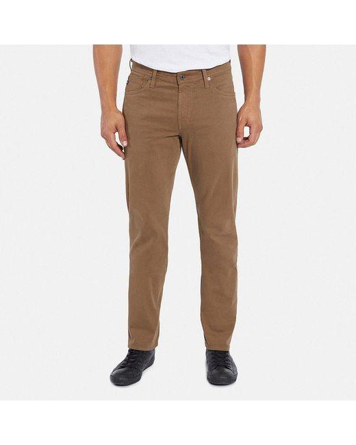 AG Jeans | Brown Graduate Jean In Dark Wheat for Men | Lyst
