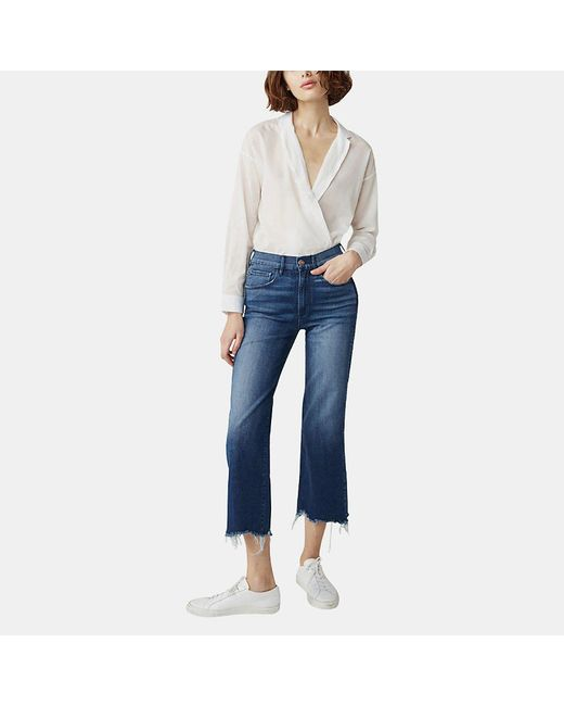 3x1 - Blue Shelter Wideleg Crop Jean In Lawndale - Lyst
