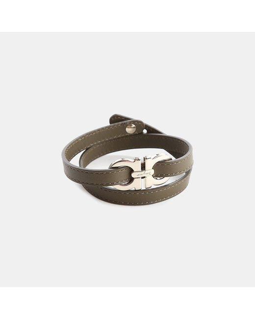 Ferragamo - Multicolor Leather Wrap Bracelet - Lyst
