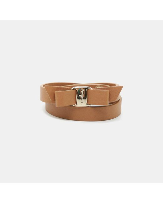 Ferragamo - Multicolor Vara Bow Leather Bracelet - Lyst