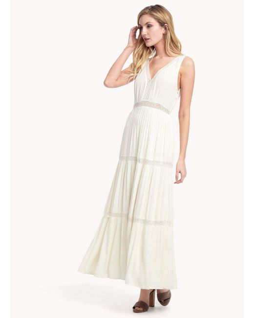 Ella Moss | Natural Katella Lace Maxi Dress | Lyst