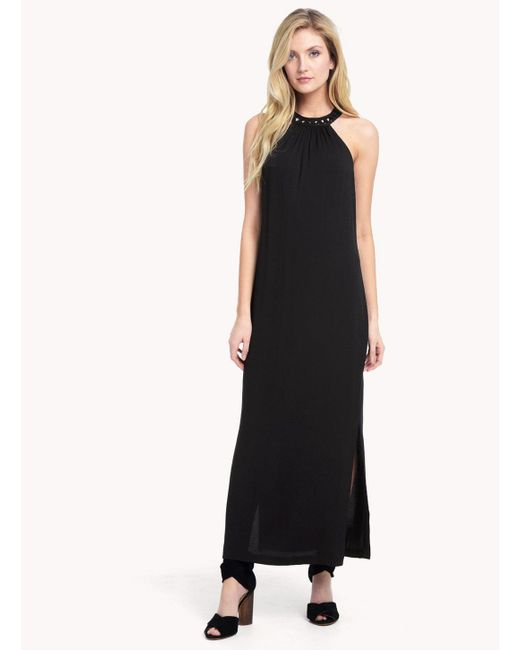Ella Moss | Black Stella Halter Maxi Dress | Lyst