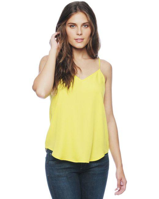Ella Moss | Yellow Stella V-neck Cami | Lyst