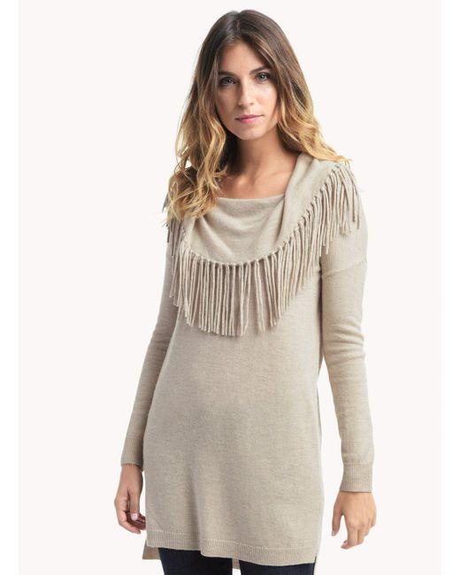 Ella Moss | Natural Fringe Sweater | Lyst