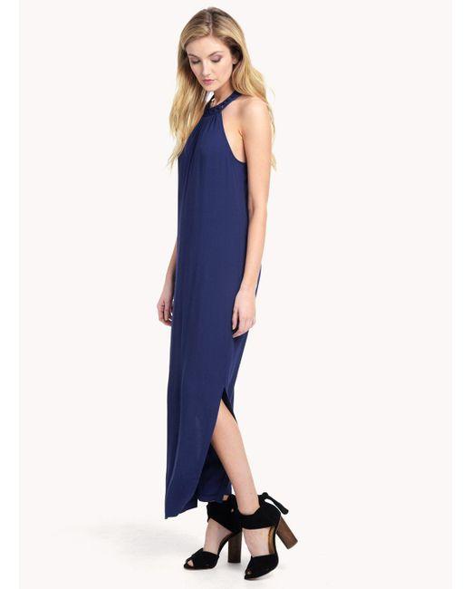 Ella Moss | Blue Stella Halter Maxi Dress | Lyst