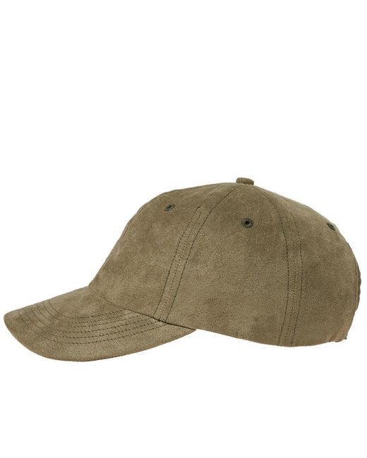 44c193341fb ... Norse Projects - Green Fake Suede Sports Cap for Men - Lyst ...
