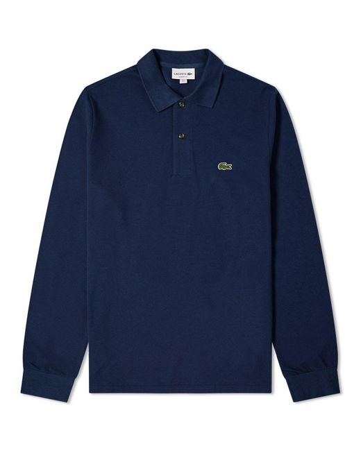 Lacoste Blue Long Sleeve Classic Pique Polo for men