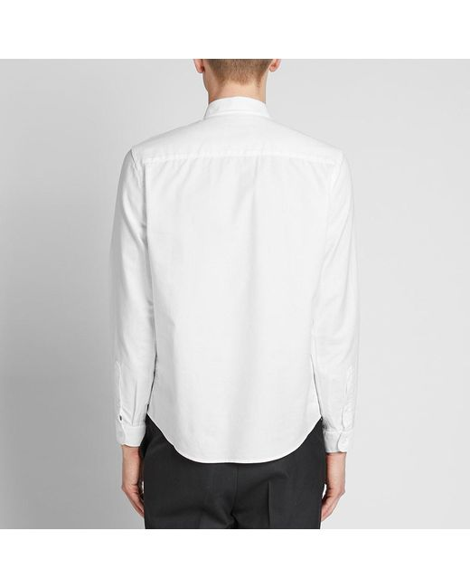 eccab983047 ... AMI - White Button Down Medium Heart Logo Oxford Shirt for Men - Lyst  ...