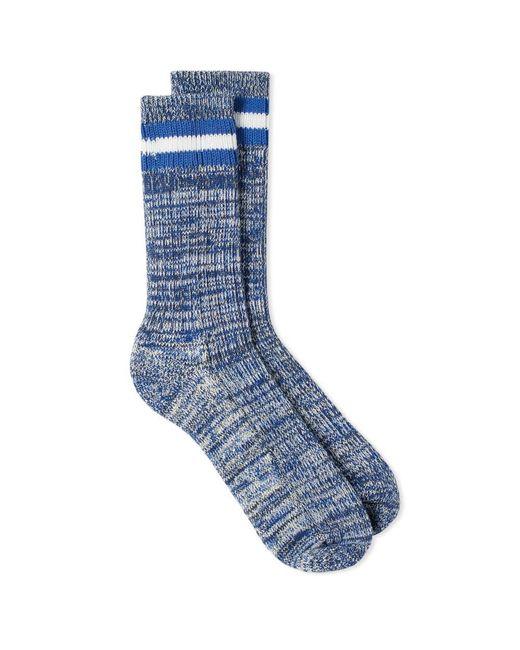 Universal Works - Blue Everyday Stripe Sock for Men - Lyst
