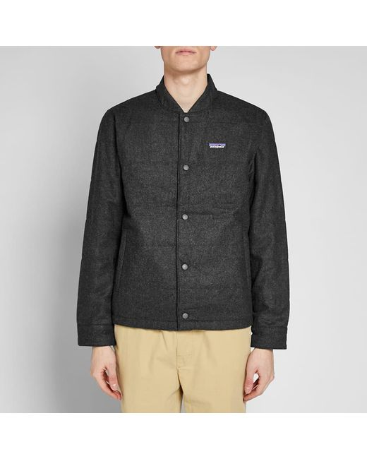 7a8acd59f Patagonia Recycled Wool Bomber Jacket in Gray for Men - Lyst